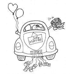 Just Married Coloring Page Pinteres
