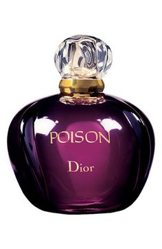 "Dior 'Poison' Eau de Toilette Spray. ""Some perfumes are born a myth. Heady, mysterious and revolutionary since its creation, Poison is Dior's ultimate weapon of seduction. Its exceptional, exotic alchemy is created by a rich blend of spicy, fruity and amber notes warmed by honey and musk - an unsettling, charismatic and unforgettable fragrance."" #Dior #WinterScent"