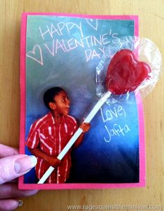Totally cute idea for Valentine's Day cards!