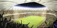 Manaus: Arena da Amazônia Matches: Group D – D3 v D4 Group A – A2 v A4 Group G – G2 v G4 Group E – E1 v E4 Clubs: various | Capacity: 44,000 seats | Scheduled inauguration: June 2013 | Status: under construction