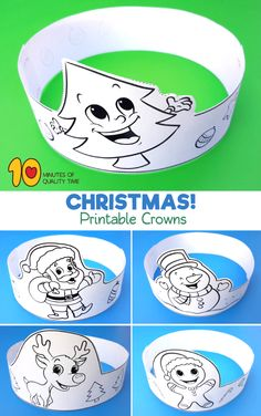 Christmas Printable Crowns - Wate Watts World Christmas Arts And Crafts, Christmas Activities For Kids, Preschool Christmas, Xmas Crafts, Christmas Printables, Preschool Crafts, Christmas Themes, Christmas Decorations, Santa Crafts