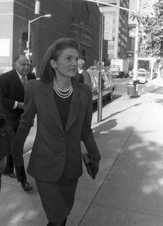 Jacqueline Kennedy Onassis at Carolina Herrera's daughter, Ana Luisa's wedding in New York.