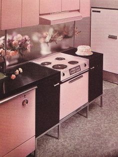 Some serious kitchen porn right here.  I love the GE Mark 27. So cool. Wish they had done gas appliances. But being General ELECTRIC, that was not in the cards.