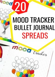 20 Best Mood Trackers for your Bullet Journal | These 20 Trackers will help you track your emotions and put you in good mood! #moodtrackerideas #bulletjournalmoodtrackers #moodtrackers