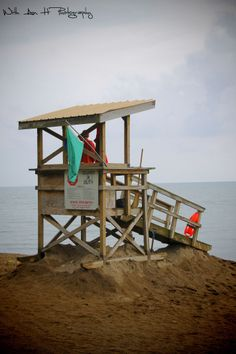lifegaurd shack at Erie