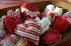 fabric hearts                                                                                                                                                                                 More
