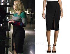MICHAEL Michael Kors:Asymmetric Faux-Wrap Skirt in Black @ Neimanmarcus.com
