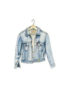 jacket, drawing, and jeans image Denim Kunst, Jacket Drawing, Hight Light, Moda Jeans, Denim Art, Instagram Logo, Blue Jean Jacket, Fashion Design Sketches, Instagram Highlight Icons