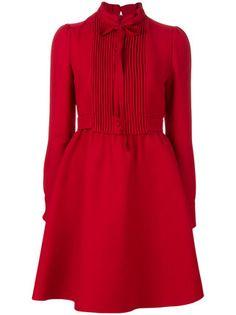 Designer Day Dresses Valentino shirt dress Un abito (n. Red Long Sleeve Dress, Red Shirt Dress, Dress Skirt, Dress Long, Dress Red, Valentino Shirt, Red Valentino Dress, Trendy Dresses, Short Dresses