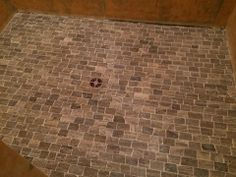 Tile shower floor by Bob & Pete's Floors, Canton, OH. (330) 478-0576 www.bobandpetesfloors.com www.facebook.com/pages/Bob-and-Petes-Floors/454860385715 Shower Floor, Facebook Sign Up, Shower Ideas, Floors, Tile, Bob, Home Tiles, Mosaics, Tiles