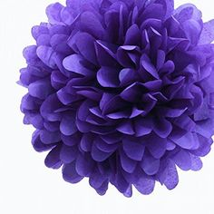 Dress My Cupcake 14Inch Royal Purple Tissue Paper Pom Poms Set of 4 -- This is an Amazon Affiliate link. Visit the image link more details.