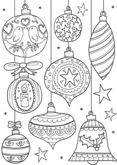 Christmas Ornament coloring sheet Kleurplaat