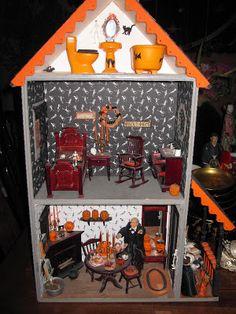 October Boys: Spooky Halloween Miniature Dollhouse