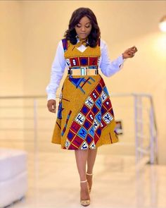 African Ankara Styles You'll Love African Dresses For Kids, Latest African Fashion Dresses, African Dresses For Women, African Print Dresses, African Print Fashion, African Attire, Ankara Fashion, Ladies Fashion Dresses, African Women Fashion