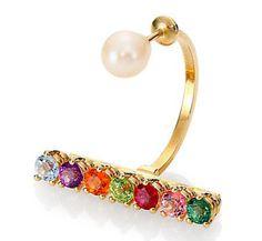 Delfina Delettrez Gold Vein earring
