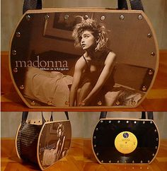 This is cool, too, cuz it uses the album on one side and the album cover on the other - I wouldn't choose Madonna...  but it's cool because it uses both, and would be lighter weight.
