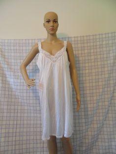 Vintage Vanity Fair White Full Ladies Slip 1970's, Style 10-720, Size 42, 100% Nylon, Lace Trim Bust,Hem, Straps,Vintage Lingerie by BessyBellVintage on Etsy