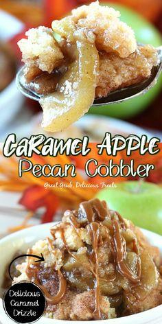 Pecan Cobbler, Fruit Cobbler, Cobbler Recipe, Dessert Salads, Pie Dessert, Dessert Ideas, Homemade Desserts, Mini Desserts, Fall Desserts