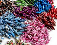 One of my favorite things about paper beads is probably the memory of making them with a group of girls in Honduras while on a mission trip to an orphanage there. We had so much fun making them. Definitely need to make more of these again soon. They're so simple, but turn out really great!
