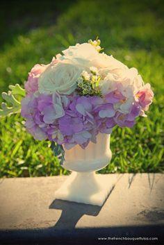 In long thin stem vase