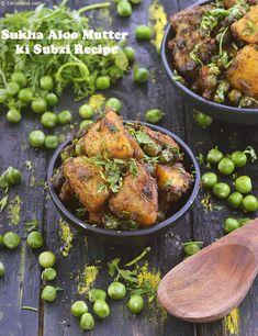 Sukha Aloo Mutter ki Subzi Recipe