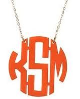 Lookie ... It's Spring at Chick's Picks March 14-17! Just Beautiful! Acrylic Monogram Necklace.