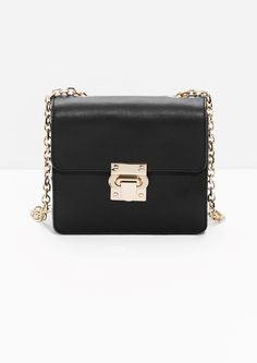 & Other Stories image 1 of Golden Lock Leather Bag  in Black