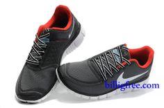 Billig Schuhe Herren Nike Free 5.0 V4 (Farbe:Vamp-schwarz,innen-rot;logo&Sohle-weiB) Online Laden.