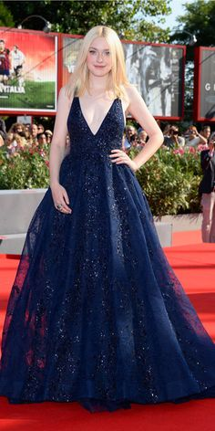 Dakota Fanning's Red Carpet Style - In Elie Saab, 2013 - from InStyle.com
