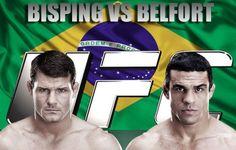 """Bisping promete fazer de Belfort seu """"saco de pancadas"""" no UFC São Paulo"""