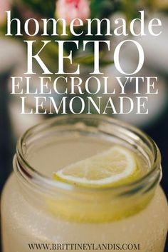 Fight the keto flu and stay hydrated while in ketosis with this simple homemade keto electrolyte lemonade recipe. Fight the keto flu and stay hydrated while in ketosis with this simple homemade keto electrolyte lemonade recipe. Low Carb Drinks, Healthy Drinks, Diet Drinks, Beverages, Healthy Eats, Keto Cocktails, Vodka Drinks, Healthy Foods, Ketogenic Recipes