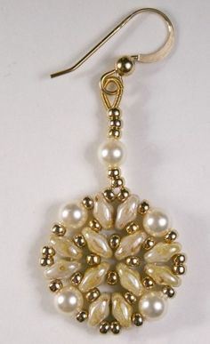 superduo earings with pearls