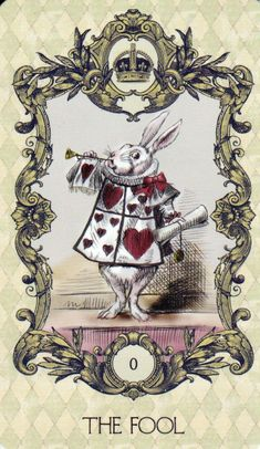 *WHITE RABBIT ~ Alice in wonderland tarot 22 major arcana cards deck Lewis Carroll, La Danse Macabre, Major Arcana Cards, Adventures In Wonderland, Oracle Cards, Through The Looking Glass, Wonderland Party, Tarot Decks, Vintage