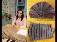 TUTO BONNET BEBE STYLE CHARLESTON POINT DE GODRON ET FLEURS AU TRICOT FACILE - YouTube