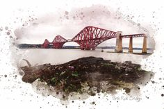 A personal favorite from my Etsy shop https://www.etsy.com/uk/listing/492376624/forth-rail-bridge-by-kirsten-boston