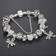 Beads Jewelry & Accessories Spinner Fashion Silver Flower Murano Glass Beads Fit Pandora Bracelet For Women Jewelry Accessories