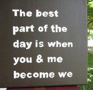 you + me = we