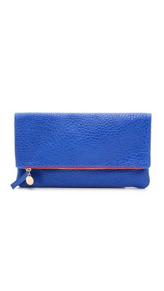Clare V. Supreme Fold Over Clutch is a great pop accessory for your summer patriotic look
