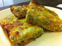 Receta: Delicioso Pastel de Verduras (de aprovechamiento) (vegetable slice)