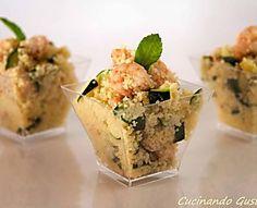 Cous Cous gamberetti e zucchine piatto freddo e light