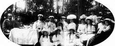 The romanovs visiting the swedish royal family, ca 1909.