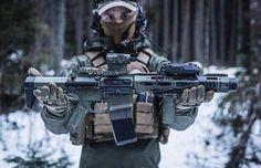 Integrally suppressed Blackout SBR w/ a collapsible butt stock Weapons Guns, Airsoft Guns, Guns And Ammo, 300 Blackout Pistol, M4 Carbine, Ar 15 Builds, Ar Build, Ar Pistol, Battle Rifle