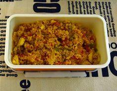 Cous cous con pollo y verduras al curry, una receta para llevar en el tupper