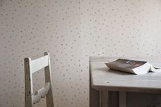 pompeli Teen boy room, attic bedroom, classic dotty wallpapers, antique furnitures