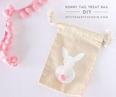 Bunny Tail Muslin Bag DIY by Petite Party Studio