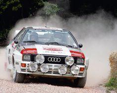 Classic Audi Quattro Rally Car