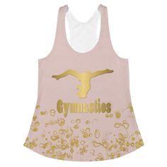 Gymnastics Women's Racerback Tank in Pink and Gold – Purposely Designed