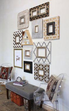 Set of Metallic Distressed Mod Wall Frames by deltagirlframes