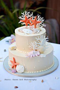Wedding cake idea - beach wedding