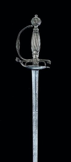 A DUTCH SILVER-HILTED SMALL-SWORD, AMSTERDAM TOWN MARK, THIRD QUARTER OF THE 18TH CENTURY